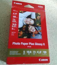 "Canon Photo Paper Plus Gloss II 4"" x 6"" 100 sheets Pixma NEW"