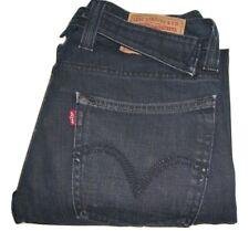 Uomo Levi's 533 Blu Scuro Vestibilità Larga Cinghietta Posteriore Denim Jeans