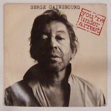Serge Gainsbourg 45 tours You're under arrest 1987
