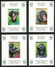 Guinea WWF Chimpanzee 4 Souvenir Sheets imperforated MNH MI#Block 925B-928B