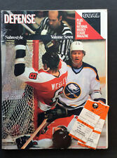 1982 Buffalo Sabres VS Montreal Canadians Hockey Program and Game Tickets