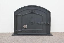 58.5 x 43 cm en fonte porte coupe-feu Argile Pain Four Doors pizza avec thermomètre