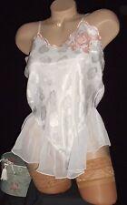 Usa VinTage S Victoria's Secret White Pink Satin Chiffon Tutu Teddie Pearls