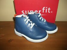 Boys SUPERFIT 310 Blue LEATHER Lace Ankle BOOT UK 4.5 Eur 21 NEW!
