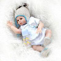 19inch Reborn Baby Boy Doll Full Body Silicone Vinyl Gift Anatomically Correct
