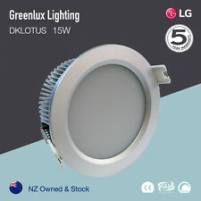 15W LED Downlight kit LG SILVER 120mm cutout Cool White 6000K Dimmable