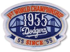 63b49df6a BROOKLYN DODGERS 1955 1st World Series Champions Iron-on Baseball Logo  PATCH!