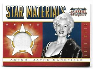 2015 Panini Americana Jayne Mansfield (#SM-JMA) Star Materials Celebrity Worn!!