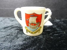 Goss Model of a Loving Cup with Ryde Crest, Made for Evans, Union Street, Ryde