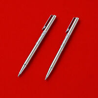 2Pcs Zebra T-3 Mini Ball Point Pen 0.7mm Silver Made inJapan Black Ink