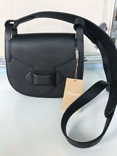 Michael Kors Black Daria French Calf Leather Saddlebag Crossbody 31T6PDAX1L