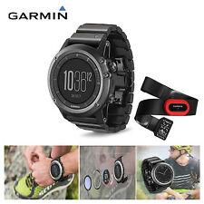 Garmin Fenix 3 Sapphire Multisport GPS Swim Bike Metal Band Watch And HRM-RUN