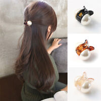 Women Mini Pearl Hair Claw Barrettes Crystal Hair Clips Fashion Hair Accessories