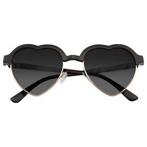 Cute Vintage Half Frame Inspired Heart Shape Sunglasses