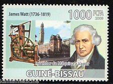Guine Bi. MNH, Inventor, James Watt Improvements In Steam Engine, Transp-  In38