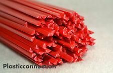 ABS Plastique baguettes de soudage 3mm rouge,paquet de 30 pièces -triangulaire