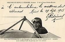 AVIATION REIMS AVIATION aviateur Védrines publicité automobiline gros plan