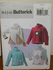 BUTTERICK PATTERN 4346 Sz XS-S-M PULLOVER TOP LONG SLEEVES AND SCARF LADIES EASY