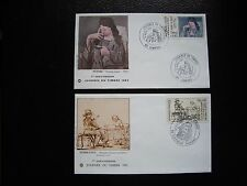 FRANCE - 2 enveloppes 1er jour 1982/1983 (journee timbre) (cy92) french