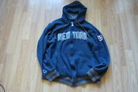 NFL New York Giants 100% cotton Line Hoodie Zip Up Proline Men's Medium NYG Navy