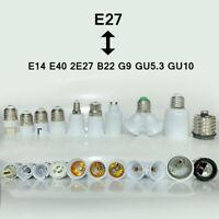 G9 E27 E14 B22 Converter Lamp Plastic BC Socket Light ES Adaptor Bulb Extender