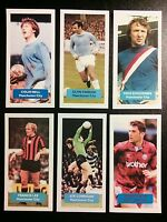 Group of 6 MANCHESTER CITY Score UK football trade cards BELL LEE SUMMERBEE