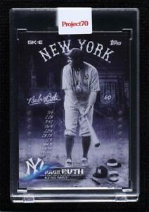 2021 Topps Project 70 Online Exclusive /8555 Babe Ruth DJ Skee #3 HOF