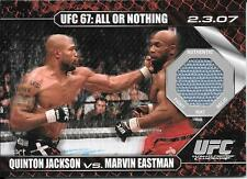 2009 Topps UFC Round1 Mat Relic #JE Quinton Jackson vs. Marvin Eastman