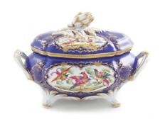 French decorated-porcelain tureen Lot 114