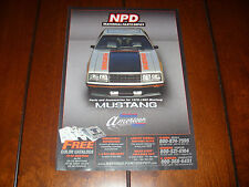 1979 Mustang Pace Car Indianapolis Indy 500 - Npd - Original 2011 Ad