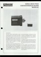 Altec Lansing 15595A High Pass Crossover/EQ Module Owner's Instruction Manual