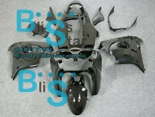 All Black Fairing Bodywork Plastic Set Kawasaki Ninja ZX9R 2000-2001 09 C7