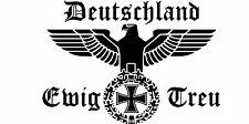 Reichsadler Eisernes Kreuz Deutschland Heckscheiben Auto Aufkleber 20x30 cm  #5