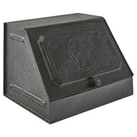 Primitive  Farmhouse Black Star Metal Bread Box Vintage SMALL  FREE SHIPPING