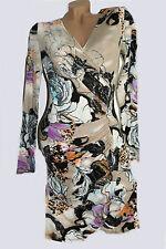 NEU Trendy Stiefel Kleid bügelfrei farbmix langarm  Gr 34 36 38 Gr S Farbe 2