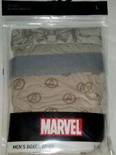 Marvel Avengers Boxer Briefs L Brief 2 Count Ultra Soft Knit Dessert Brown Mens