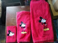 classic mickey mouse fingertip towel Free Ship red vintge applique