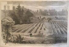 1865  Illustrated newspaper CLARA BARTON at ANDERSONVILLE Confederate Prison