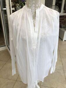 Bnwot Helmut Lang White Shirt Blouse Size S Stunning Bargain