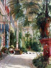 Pintura Interior Estudio blechen pfaueninsel Palm Casa impresión arte cartel lf480