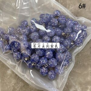 20PCS Crystal Bling Beads Button Ball Shape Metal Shank Sewing Craft Small 10mm