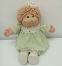 Vintage Cabbage Patch Doll 1978/1982 Coleco Girl Green Dress Lace Pamper Dimples