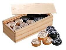 Dame- und Mühle-Spielsteine 30mm in Box