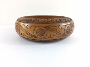 Decorative Wooden Bowl Carved Design Wood Home Decor