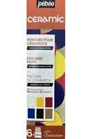 Pebeo Ceramic 6 x 20ml Paint Set Terracotta Pottery Earthenware Painting 756451