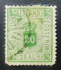 nystamps Iceland Stamp # O8 Used $63 J15y964