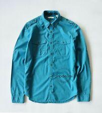 Authentic BNWOT BURBERRY BRIT Cotton Shirt Mens Medium IN Blue