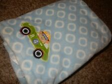 30x40 Kidsline Carter's Monkey Race Car Circles Minky Plush Baby Crib Blanket