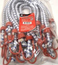 Bungee Cord Heavy Duty 12 Pc Set 24 Inch 2 Ft Red Tip Tie Down Strap Bungie