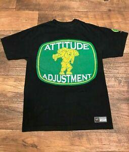John Cena Mens Medium Attitude Adjustment Black T-Shirt, Authentic WWE WWF